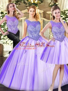 Modern Sleeveless Beading Zipper Sweet 16 Quinceanera Dress