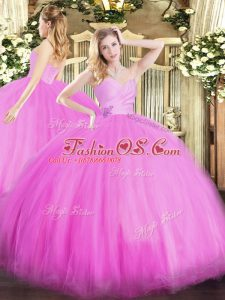 Clearance Fuchsia Sweetheart Lace Up Beading Vestidos de Quinceanera Sleeveless