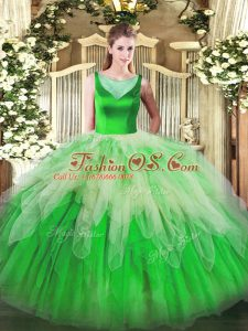 New Style Multi-color Sleeveless Tulle Side Zipper Vestidos de Quinceanera for Sweet 16 and Quinceanera