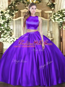Sleeveless Ruching Criss Cross 15 Quinceanera Dress