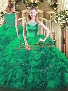 Turquoise Sleeveless Beading Floor Length Vestidos de Quinceanera