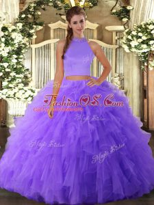 Sleeveless Backless Floor Length Beading and Ruffles Ball Gown Prom Dress
