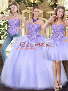 Flare Sleeveless Appliques and Ruffles Zipper 15 Quinceanera Dress