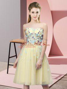 Sweetheart Sleeveless Tulle Dama Dress for Quinceanera Appliques Lace Up