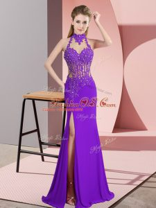 Customized Sleeveless Backless Floor Length Beading Mother Of The Bride Dress