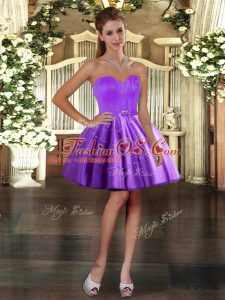 Tulle Sweetheart Sleeveless Lace Up Appliques Custom Made in Purple
