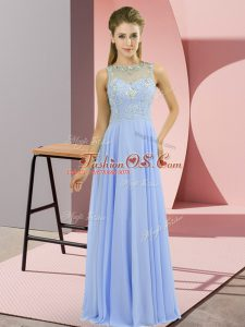 Fantastic High-neck Sleeveless Chiffon Formal Evening Gowns Beading Zipper