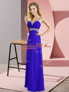 Beauteous Straps Sleeveless Chiffon Mother Of The Bride Dress Beading Criss Cross