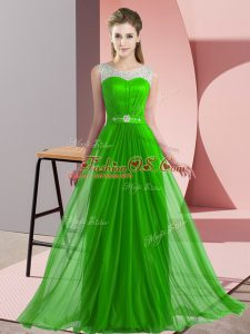 bef925b036d Colorful Green Lace Up Damas Dress Beading Sleeveless Floor Length  US   96.2700