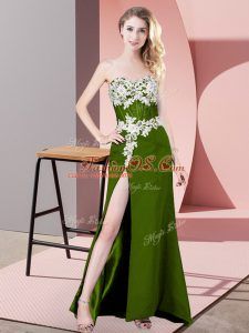 Traditional Sweetheart Sleeveless Chiffon Party Dresses Lace and Appliques Zipper