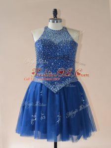 Spectacular Sleeveless Beading Lace Up Club Wear