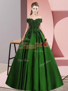 Off The Shoulder Sleeveless Satin 15th Birthday Dress Lace Zipper