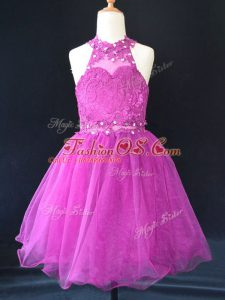 Sleeveless Beading and Lace Lace Up Pageant Gowns For Girls