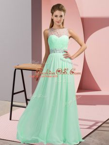 Custom Made Apple Green Custom Made Prom and Party with Beading Scoop Sleeveless Backless