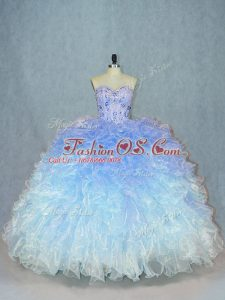 Lace Up Sweet 16 Dress Multi-color for Sweet 16 and Quinceanera with Beading and Ruffles
