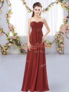 Superior Sleeveless Ruching Zipper Quinceanera Court Dresses