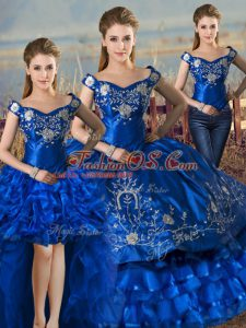 Superior Floor Length Ball Gowns Sleeveless Royal Blue Quinceanera Dresses Lace Up