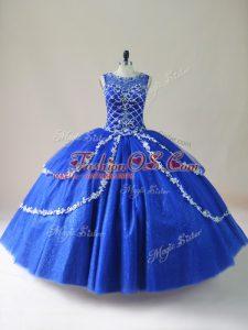 Sleeveless Zipper Floor Length Beading Quince Ball Gowns