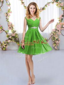 Sexy Zipper Dama Dress for Quinceanera Belt Sleeveless Mini Length