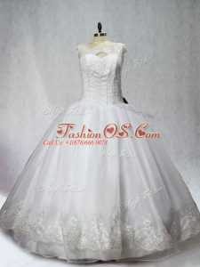 Captivating Organza Sleeveless Floor Length Vestidos de Quinceanera and Beading and Appliques