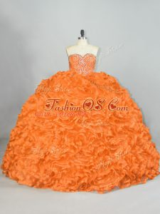 Spectacular Sleeveless Lace Up Beading and Ruffles Quinceanera Gowns