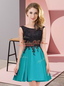 Captivating Sleeveless Zipper Mini Length Lace Vestidos de Damas