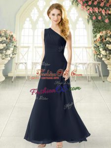 Sleeveless Ruching Side Zipper Prom Evening Gown