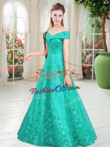 Custom Made Sleeveless Beading Lace Up Prom Party Dress