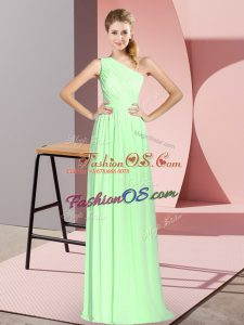 Sleeveless Ruching Lace Up Homecoming Dress