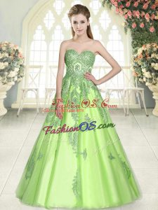 Adorable Floor Length Prom Party Dress Sweetheart Sleeveless Lace Up