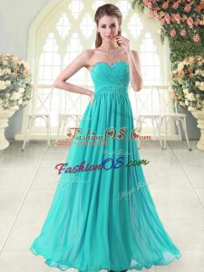 Sumptuous Sleeveless Beading Zipper Prom Dress
