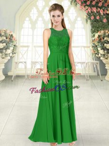 Top Selling Green Sleeveless Chiffon Backless for Prom and Party