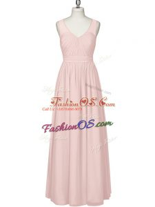 Romantic Sleeveless Ruching Zipper Evening Dress
