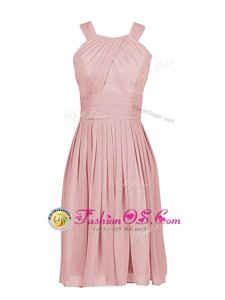 Low Price Pink Scoop Zipper Pleated Homecoming Dress Online Sleeveless