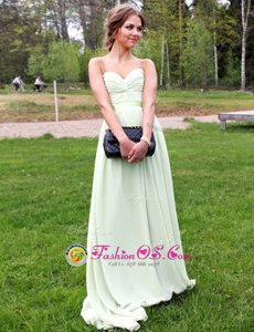 Scalloped Light Yellow Cap Sleeves Knee Length Appliques Zipper Prom Dresses
