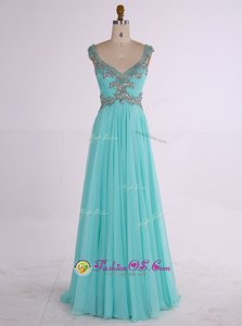 Scoop Lace Sleeveless Ankle Length Dress for Prom and Lace