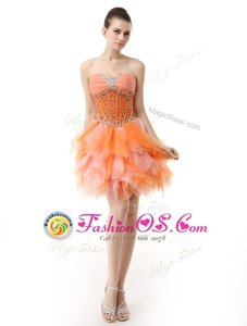 Multi-color Sleeveless Organza Zipper Oscars Dresses for Prom and Party