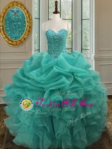 Strapless Sleeveless Quince Ball Gowns Floor Length Beading and Embroidery Royal Blue Satin