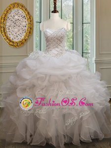 Perfect Floor Length Turquoise Quinceanera Gown Sweetheart Sleeveless Lace Up