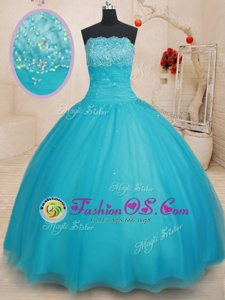 Amazing Apple Green Scoop Lace Up Beading and Ruffles and Pick Ups Sweet 16 Quinceanera Dress Sleeveless