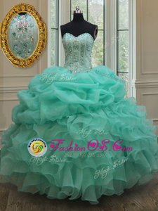 Custom Design Floor Length Lace Up Quinceanera Gowns for Military Ball and Sweet 16 and Quinceanera with Beading and Appliques