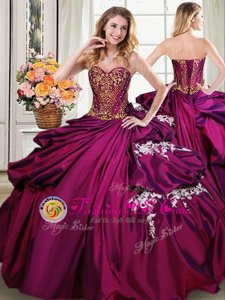 Fashionable Four Piece Floor Length Multi-color 15 Quinceanera Dress Organza Sleeveless Beading and Ruffles