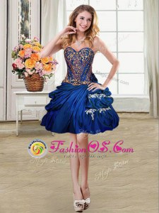 Sleeveless Beading and Appliques and Pick Ups Lace Up Prom Dresses