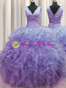 Amazing Fuchsia Sleeveless Appliques and Pick Ups Floor Length 15 Quinceanera Dress