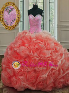 Hot Selling Pick Ups Ball Gowns Sleeveless Apple Green 15th Birthday Dress Sweep Train Lace Up