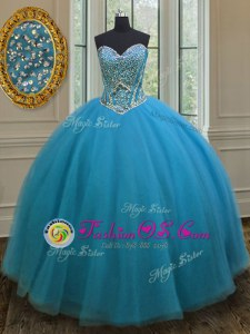 Sweetheart Sleeveless Lace Up Quinceanera Dresses Lavender Organza