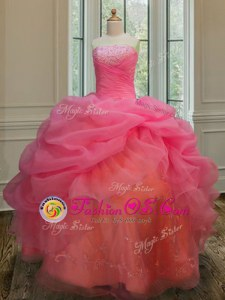 Strapless Sleeveless Zipper Quinceanera Gowns Olive Green Tulle
