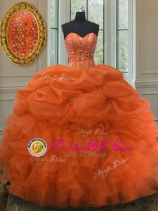 Customized Watermelon Red Quinceanera Dresses Military Ball and Sweet 16 and Quinceanera and For with Beading and Ruffles Sweetheart Sleeveless Lace Up