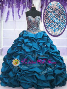 Lilac Lace Up Sweetheart Beading and Ruching and Bowknot Sweet 16 Quinceanera Dress Tulle Sleeveless