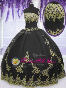 Sleeveless Appliques and Pick Ups Floor Length Vestidos de Quinceanera